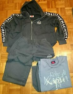 KAPPA TRACKSUIT HOODIE GREY LARGE SIZE FULL TRACKSUIT VINTAGE - <span itemprop='availableAtOrFrom'>Himberg , Österreich</span> - KAPPA TRACKSUIT HOODIE GREY LARGE SIZE FULL TRACKSUIT VINTAGE - Himberg , Österreich