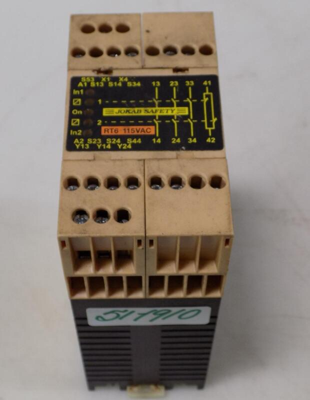 JOKAB SAFETY 115VAC SAFETY RELAY RT6 J1357D