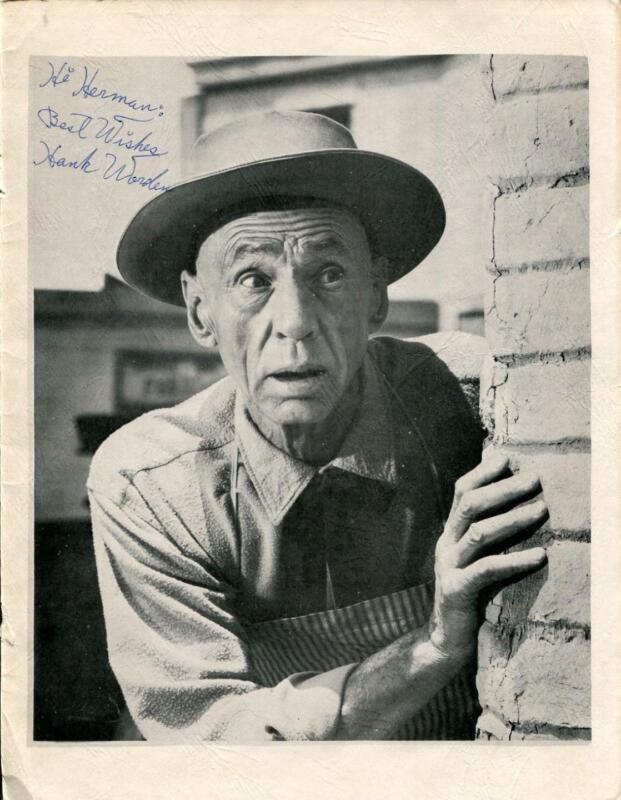 Hank Worden Autograph Actor The Searchers Twin Peaks Signed Photo Page