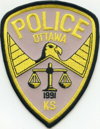 OTTAWA KANSAS KS POLICE PATCH