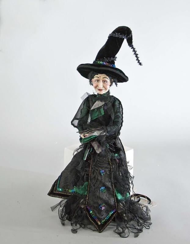 """Katherine's Collection - 18"""" Witch Doll Figurine Halloween - 11-711268-R"""