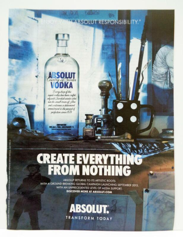 Absolut Vodka Create Everything From Nothing Transform 2013 Photo Print AD LG