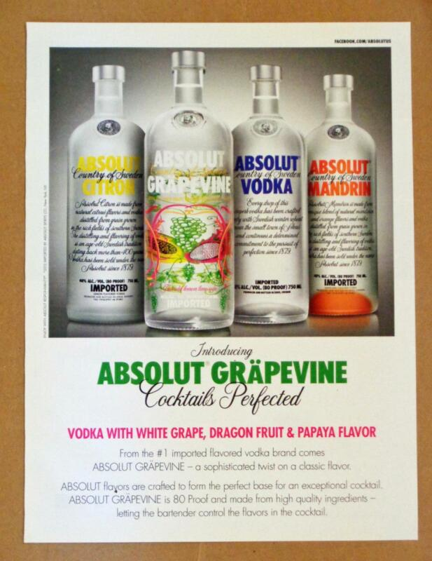Absolut Grapevine Dragon Fruit Papaya 2012 Photo Print AD Vodka Mandrin Citron