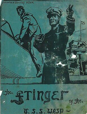"USS Wasp CV7, newsletter ""The Stinger"" dated 25 April 1941 on CD"
