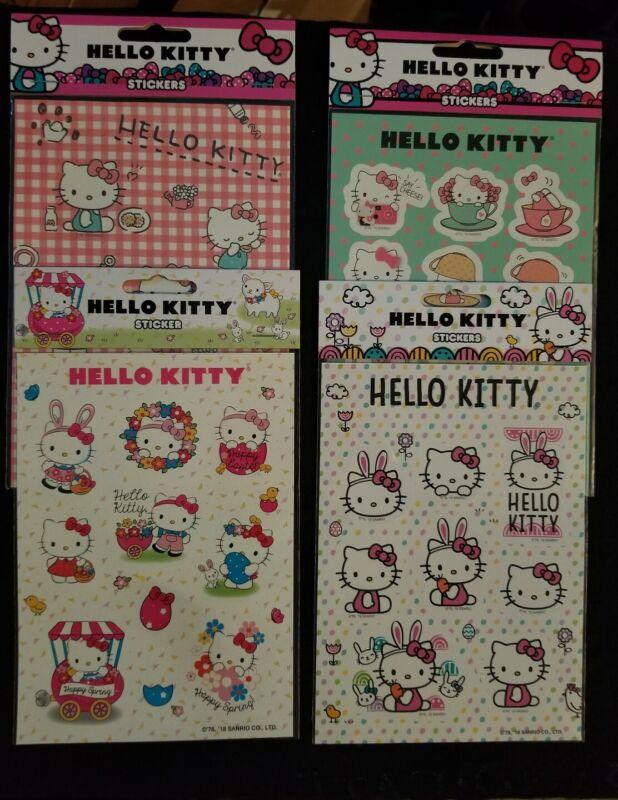 Hello Kitty Sticker Sheets Set (4) Sanrio Animation