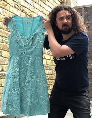 Karen Millen Turquoise Summer Dress Size 10