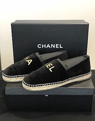 Chanel Espadrilles Suede Logo 41
