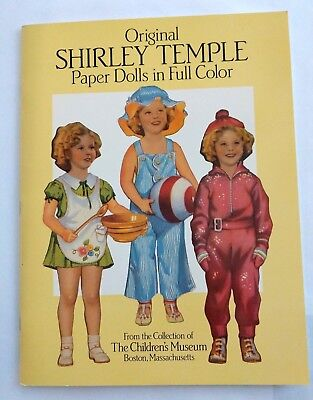 Vintage Original Shirley Temple Doll Book in FULL COLOR Unused