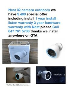 Nest iQ camera outdoors special offers includes install