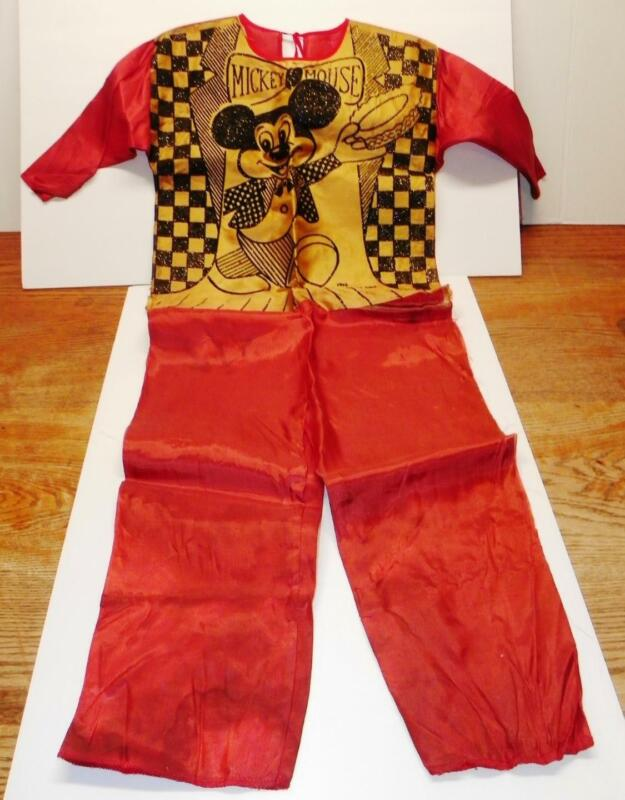 VTG 1962 Walt Disney Mickey Mouse EMBRIODERED Ben Cooper CHILD HALLOWEEN COSTUME
