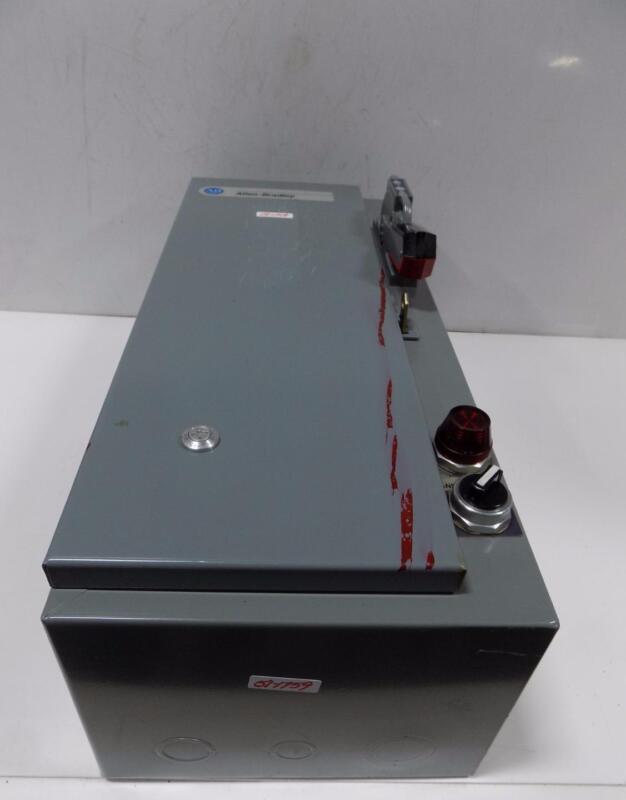 ALLEN BRADLEY COMBINATION STARTER W/ DISCONNECT 512-AAH-24R SER. D
