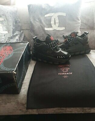 VERSACE CHAIN REACTION TRAINERS - SIZE 40 UK 6
