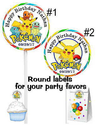 Pokemon Birthday Party Favors (POKEMON BIRTHDAY PARTY FAVORS STICKERS LABELS FOR GOODY BAGS, TAGS,)