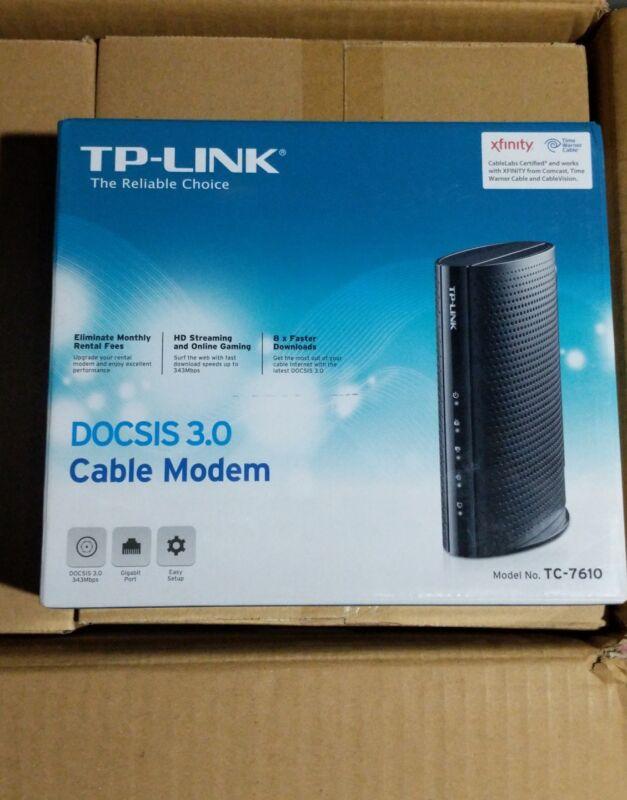 TP-LINK DOCSIS 3.0 Cable Modem Black TC7610
