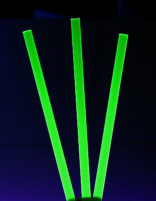 "1 PC 3/4"" DIAMETER CLEAR GREEN FLUORESCENT ACRYLIC PLEXIGLASS ROD 12"" INCH LONG"