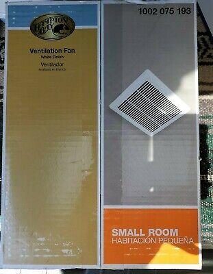 Hampton Bay Bathroom Ventilation/Exhaust Fan 2.0 Sone 70 CFM Quiet 2.0 Sone