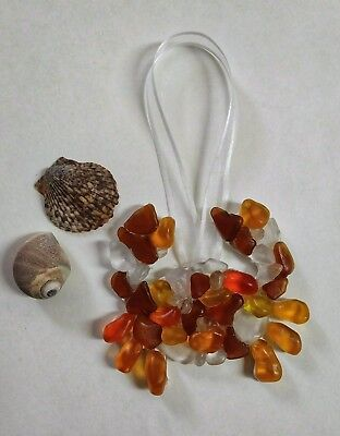 SEA GLASS CRAB CHRISTMAS TREE ORNAMENT BEACH GLASS SEA GLASS ART BEACH NAUTICAL](Christmas Tree Art)