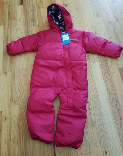 NWT Columbia Redsnuggly Bunny Bunting Down Winter 18-24 Months