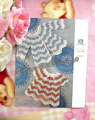 (Vintage Crochet Pattern Baby Girls Angel Top & Matinee Coat £2.49 + FREE UK P&P!)
