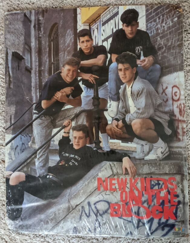 NKOTB Poster & Buttons Vintage