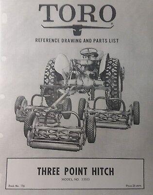 Toro 3-point Hitch 2n 9n 8n Ford To30 Ferguson Farm Tractor Assy Parts Manual