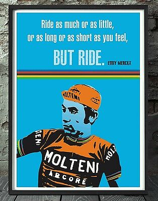 Eddy merckx cycling poster. Specially created