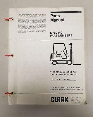 Clark Forklift Tm145 Parts Manual
