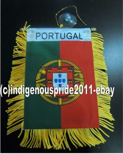 Portugal Flag/ Portugal Mini Car banner 4 car mirror or window.Great gift.