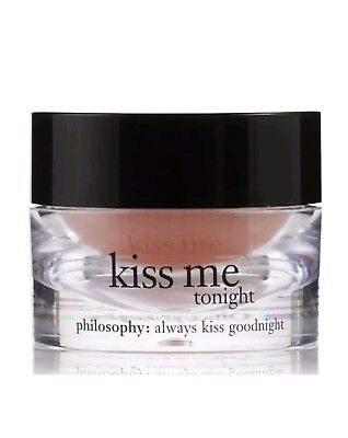 NEW IN BOX PHILOSOPHY KISS ME TONIGHT PINK TINTED LIP TREATMENT 0.3 .3 OZ  (Philosophy Kiss)