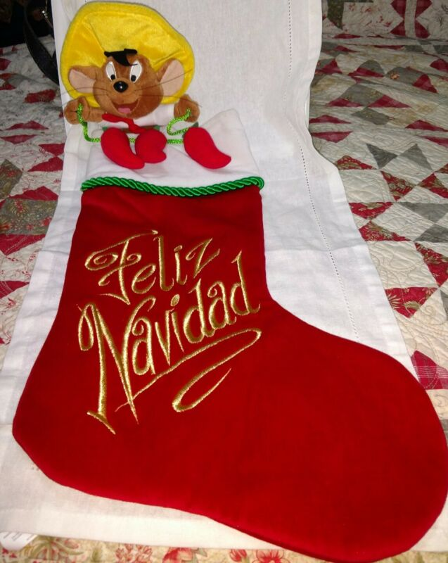 Speedy Gonzales Christmas Stocking Warner Bros Studio Feliz Navidad