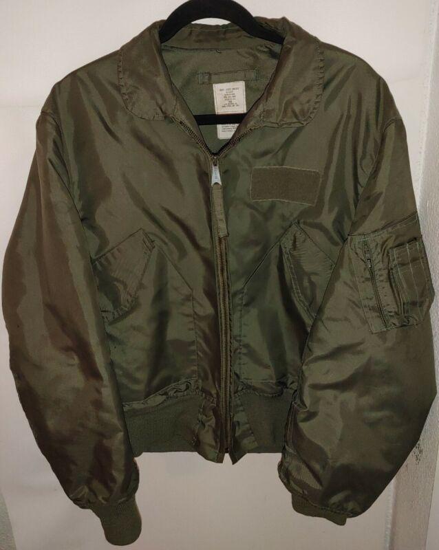 Vtg SZ LARGE green USA Military CWU 36/P Flyers Jacket Zip Up ALPHA IND SUMMIT