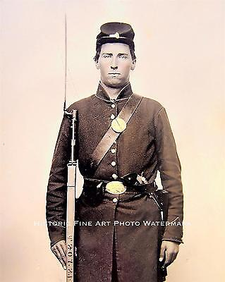 CIVIL WAR PHOTO UNION SOLDIER 118th REGIMENT ILLINOIS INFANTRY 8x10 #21759