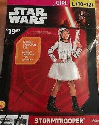 NWT Star Wars Stormtrooper Girls' Costume Size Large (10-12) Free S/H - Stormtrooper Costume For Girls