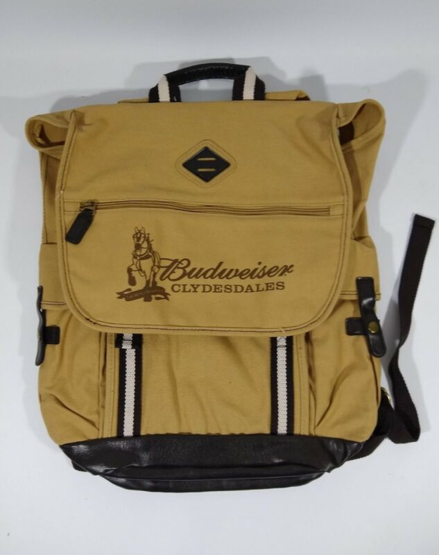 Budweiser Clydesdales Heritage Supply Co Backpack Beige