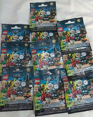 Lego Batman Movie Series 2 Minifigures Lot Of 10 Blind Sealed Bags In Hand