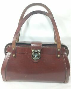Vintage ZENITH Handmade Leather Satchel Shoulder Bag Purse Handbag