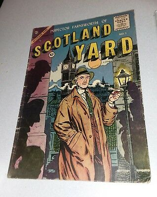 SCOTLAND YARD #1 GOLDEN AGE 1955 CHARLTON CRIME COMICS TEXAS RANGERS IN ACTION