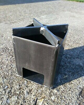 Wood Burning Camp Stove Compact & Sturdy Steel -