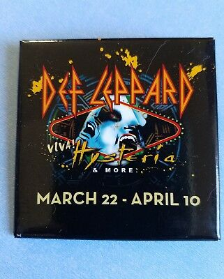 Def Leppard Viva Hysteria Pin Button Hard Rock Hotel Casino Las (Def Leppard Button)
