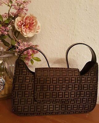 Designer Handtasche Nylon (Designer Handtasche NOATO*  Handtasche * 26 x 17 cm * besondere Form* schw-braun)