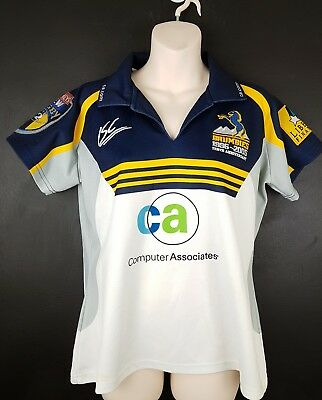 ce764bc69d0 ACT Brumbies Ladies jersey 2005 10-year rugby Super 12 Size 12 ISC