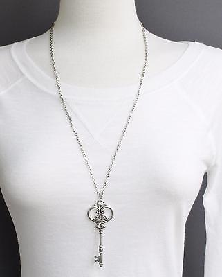 Silver key necklace 27