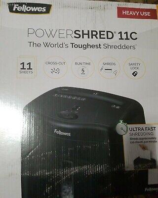 Fellowes Powershred 11c Cross-cut Shredder 11 Sheet Capacity 043859697229