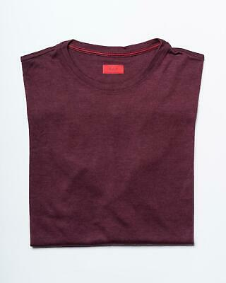 Isaia $675 NWT Burgundy Tailored Fit Cashmere Silk Jersey Long Sleeve T Shirt M