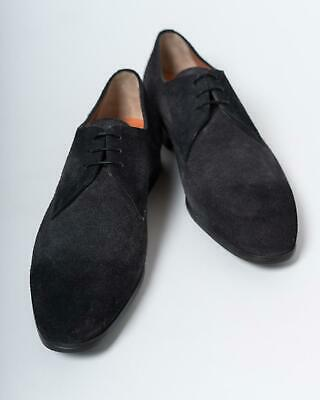 Santoni $650 NIB Smoke Gray Suede Oxford Lace Up Dress Shoe 8 UK 9 US