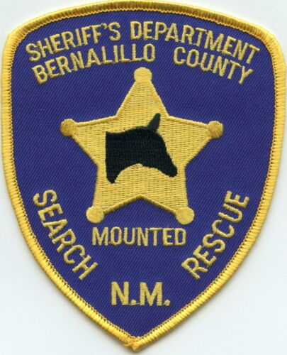 BERNALILLO COUNTY NEW MEXICO NM MOUNTED SEARCH AND RESCUE SHERIFF POLICE PATCH