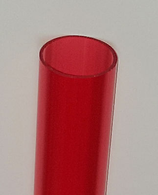 1 14 Od X 1 18 Id Clear Red Acrylic Plexiglass Lucite Tube Diameter 12 Long