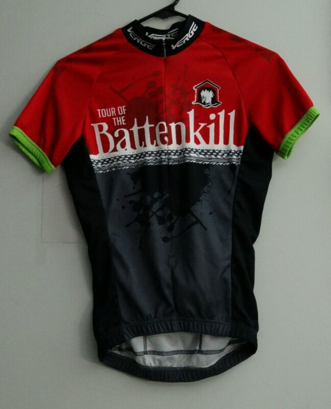 Verge brand Tour of the Battenkill. Men's X-Small cycling jersey.
