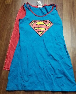 Halloween Superwoman Costume (Supergirl/superwoman sexy Adult womens Halloween  Costume dress Medium 8-10)