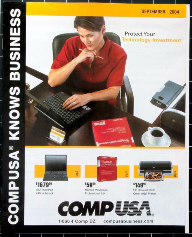 Dealer Dave Ephemera COMP USA, 2004 SEPTEMBER MAILER, 12 PAGES, TECHNOLOGY (264)